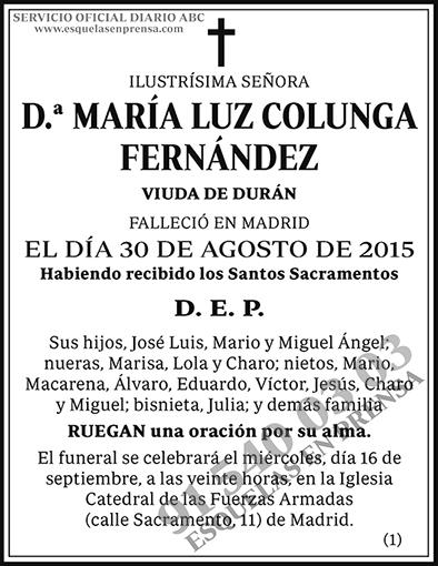 María Luz Colunga Fernández